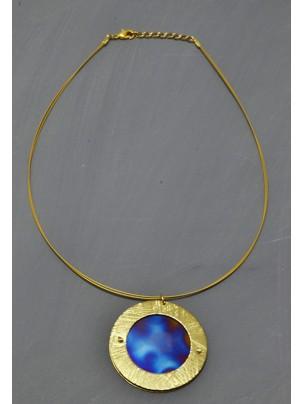 pendant brass and titanium