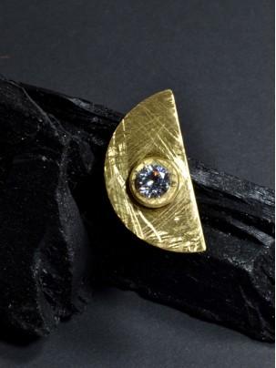 Δαχτυλίδι ημικύκλιο με ζιργκόν